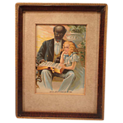 Print of Eva and Uncle Tom
