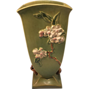 Roseville Pottery Apple Blossom Vase No. 390-12 - Year 1948