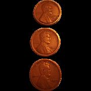 Lincoln Wheat Pennies - 1924, 1926. 1927