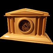 Celluloid Boudoir/Dresser Columnar Clock