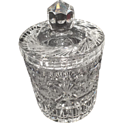 Lead Crystal Biscuit Jar