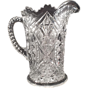 Vintage Pressed Glass Water/Beverage Pitcher -- Vase