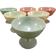Set of Six Moderntone Sherbet/Dessert Dishes