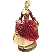 Vintage Carnival Chalkware Victorian Style Lady