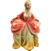 Vintage Glamorous Carnival Chalkware Colonial Lady (cr. 1940's era)