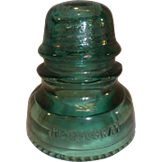 Hemingray No. 40 Glass Insulator - Green