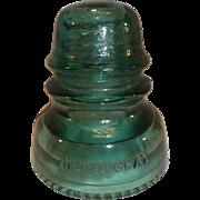 Hemingray No. 40 Glass Insulator - Green