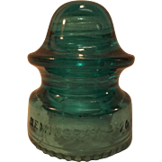 Hemingray No. 20 Blue Glass Insulator
