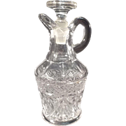 Vintage Pressed Glass Vinegar/Oil Cruet