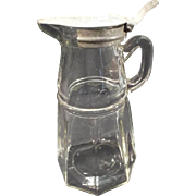 Victorian Style heavy glass Syrup Pitcher