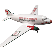 Vintage Die Cast Metal Airplane Bank DC-3--North Pole Airways--Limited Edition
