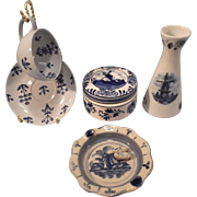 5 Blue Delft Collectibles--Holland/Finland