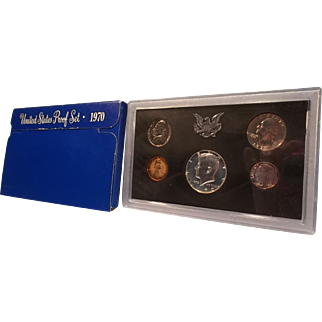 1970-S, U.S. Mint Proof Set of Coins in Original Lucite case