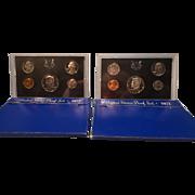 Two 1972-S,  U.S. Mint Proof Sets