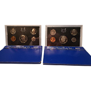 Two 1972-S,  U.S. Mint Proof Sets