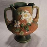 Roseville Pottery Co. White Rose Vase