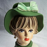 Napcoware lady Headvase-- C7496--8 1/2 inches