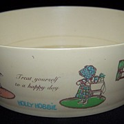 Holly Hobbie Celluloid Childs cereal bowl