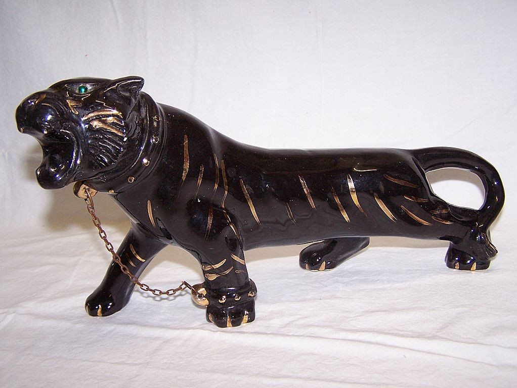 TV Ceramic Black Panther Statue