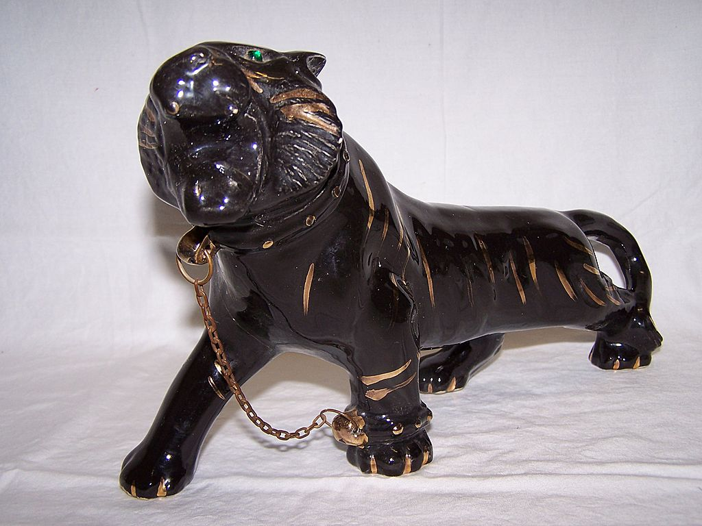 Black panther pounce - Ceramic black panther statue ...