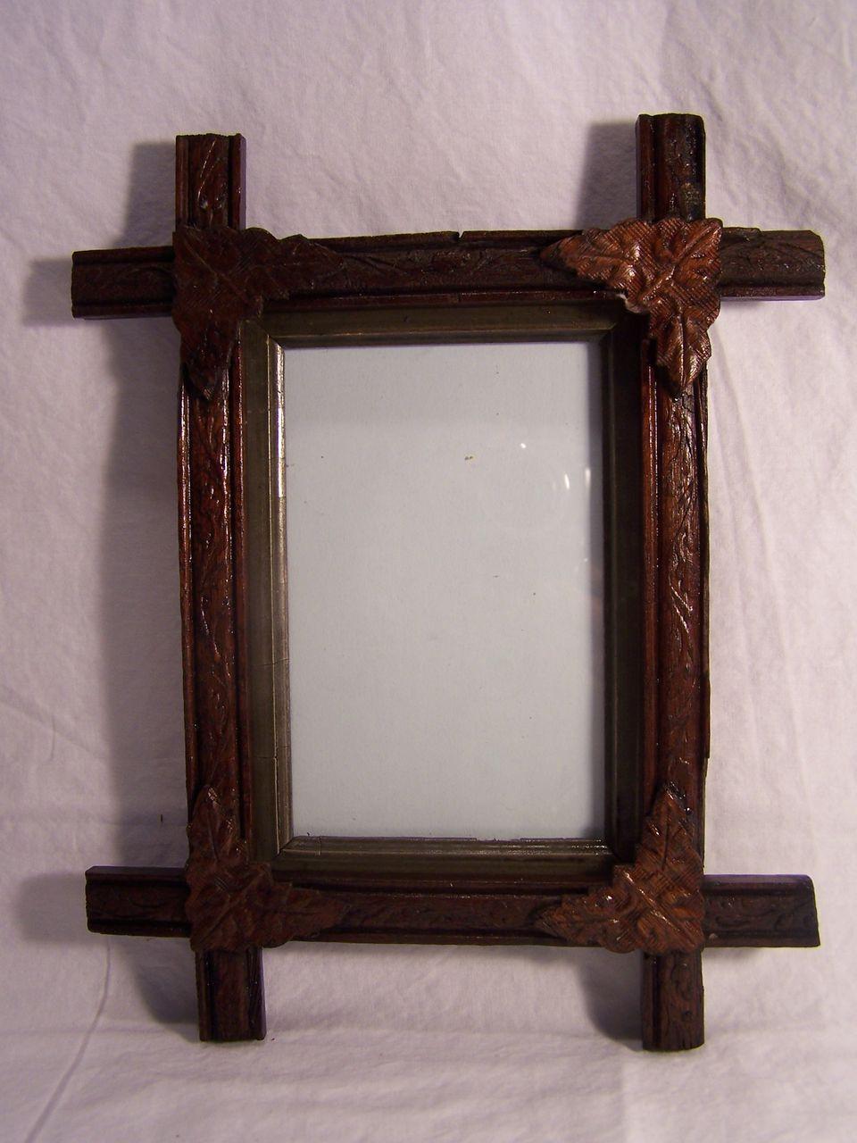 adirondack eastlake rustic tramp art picture frame