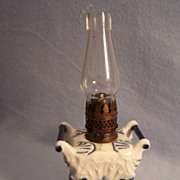 Miniature Porcelain Boudoir Oil Lamp