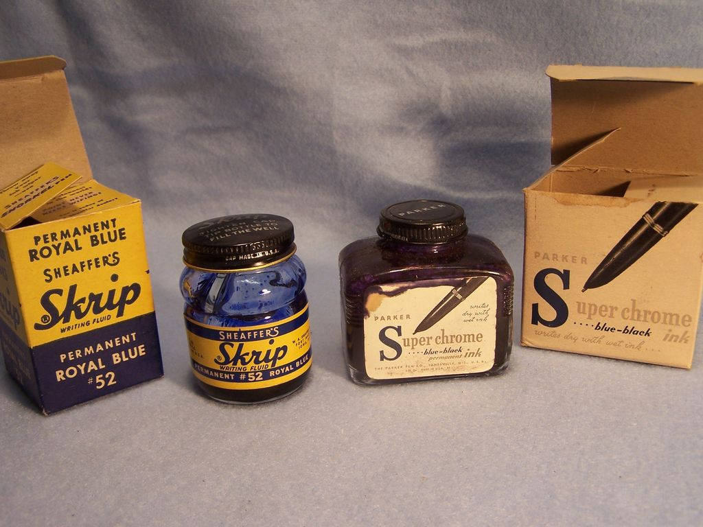 Sheaffer & Parker Ink Bottles in Original Boxes