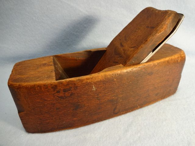 Wooden Smoothing Plane, Hardwood, Coffin shaped