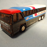 Buddy L Tin Greyhound Americruiser Bus--1979