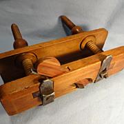 Vintage Wood Plow Plane--Woodworking Tool