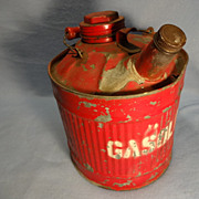 Vintage Gasoline Can--5 quarts