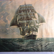 Clipper Ship -Vintage Framed Print by G.G. Reynaud