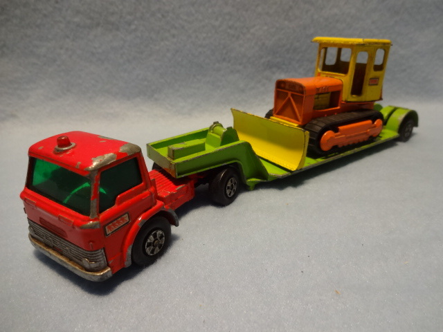 Matchbox Ford Tractor-K-17 Low Loader-King Size Case Bulldozer