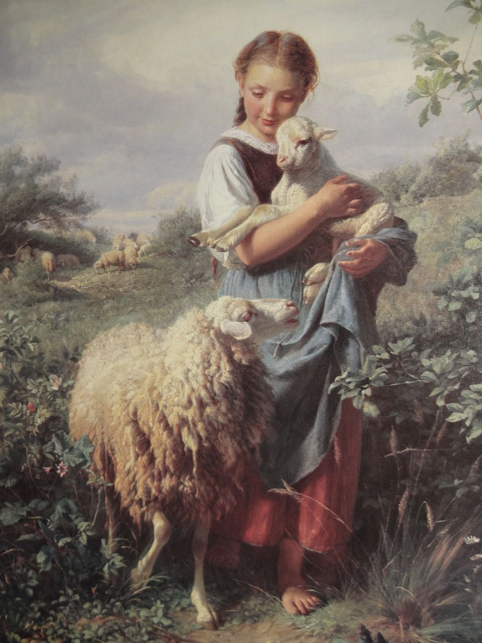 Quot The Young Shepherdess Quot Full Color Print By Johann Baptist