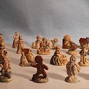 Set of 23 Wade England Nursery Rhyme Miniatures (Whimsies)