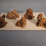 Set of 5 Wade England Whimsies, 1971