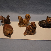Set of 5 Wade England Whimsies, 1974
