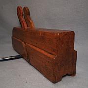 Vintage Double Iron Sash Wood Moulding Plane