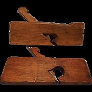 """Skewed Wood Rabbet Plane, German, 1 1/4"""" --and--  Wood Rabbet Plane 7/8""""--Woodworking tools"""