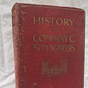 The History of Company C, 57th Engineers,  during the World War 1918-1919 is by Author Robert M. Davis, Captain, Engineers, U.S.A.-WW1 Book