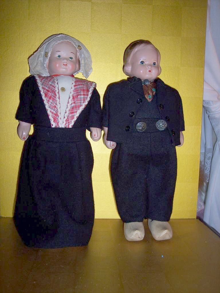 Composition Dutch Walking Dolls