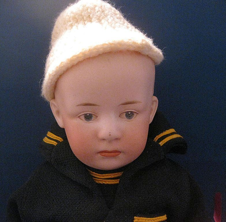 Bisque Heubach Bisque Pouty Doll