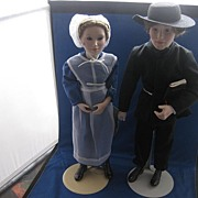 Armish Bride and Bridegroom  Doll