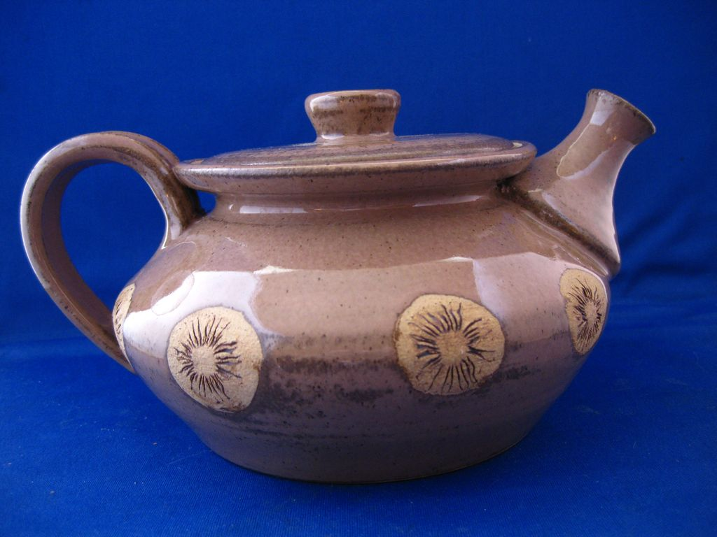 Unusual Pottery Teapot From Dustytreasure90 On Ruby Lane