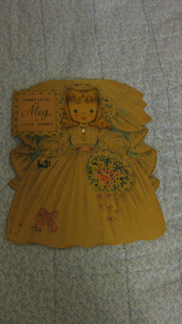 Hallmark Card Janet Leigh as Meg in Little Women