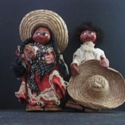 Mexican Man and Woman Dolls