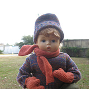 Goebel  Vinyl Hummel  Doll  On Sled