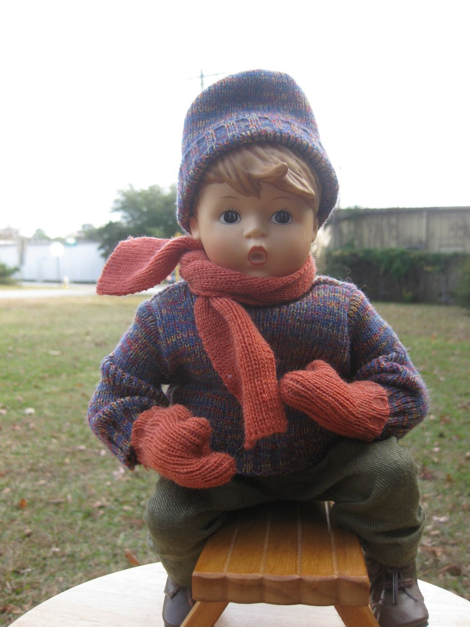 Goebel Vinyl Hummel Doll On Sled From Dustytreasure90 On