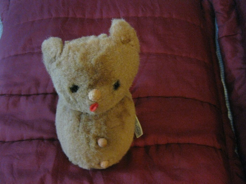 Vintage  Roly poly  Bear  by Eden Toy Co.
