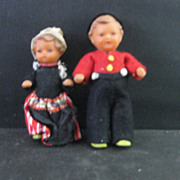Vintage  Rubber  Dutch Dolls